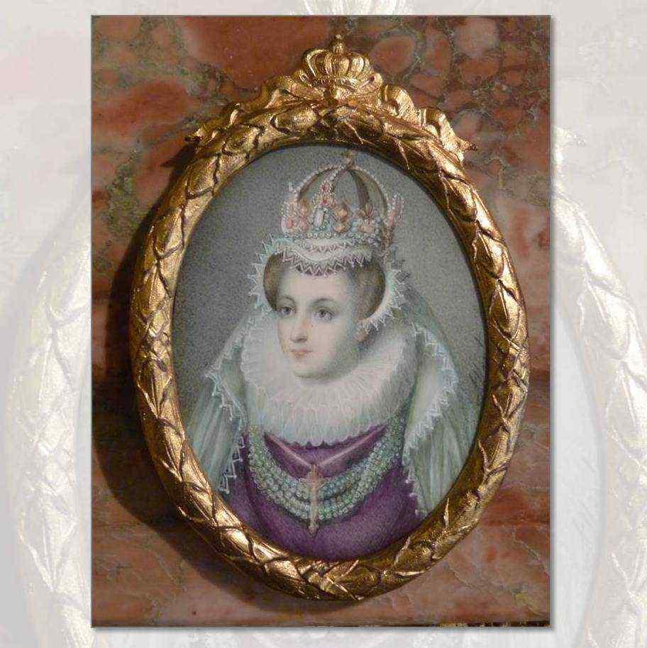Miniatura con ritratto di Mary Stuart, epoca Vittoriana