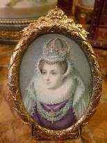 Miniatura con ritratto di Mary Stuart, epoca Vittoriana-7