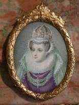Miniatura con ritratto di Mary Stuart, epoca Vittoriana-6