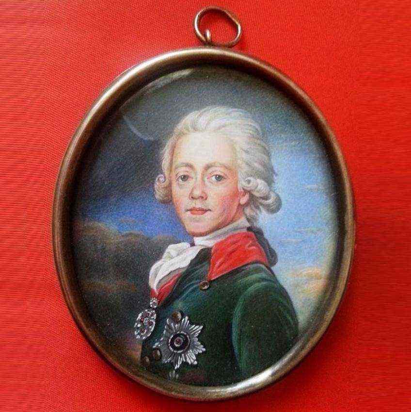 Miniatura dell'Imperatore Pavel I, XVIII secolo