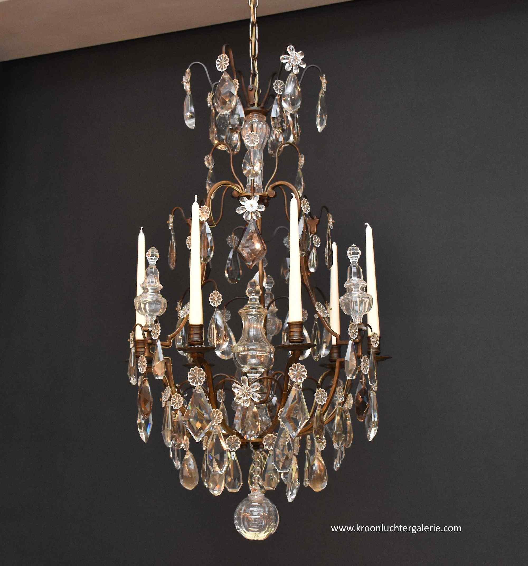 Antico lampadario di pregio nello stile di Luigi XV