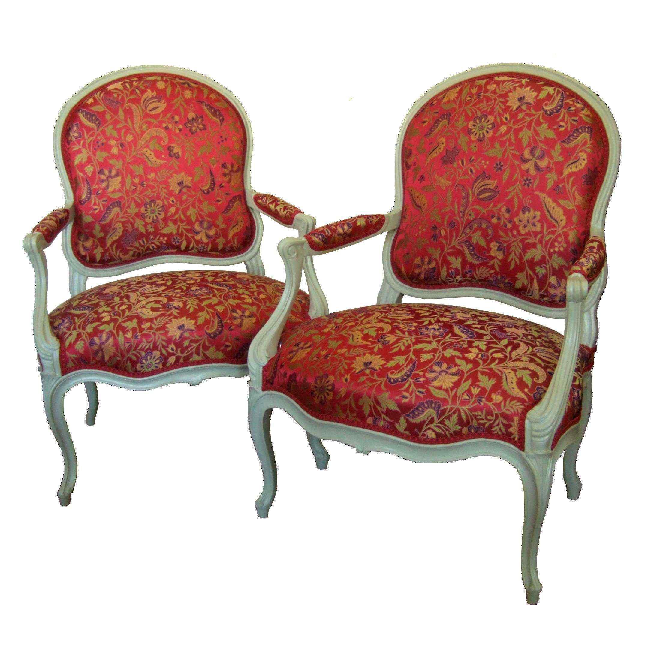 Coppia di sedie stampigliate JB II Lelarge, XVIII secolo