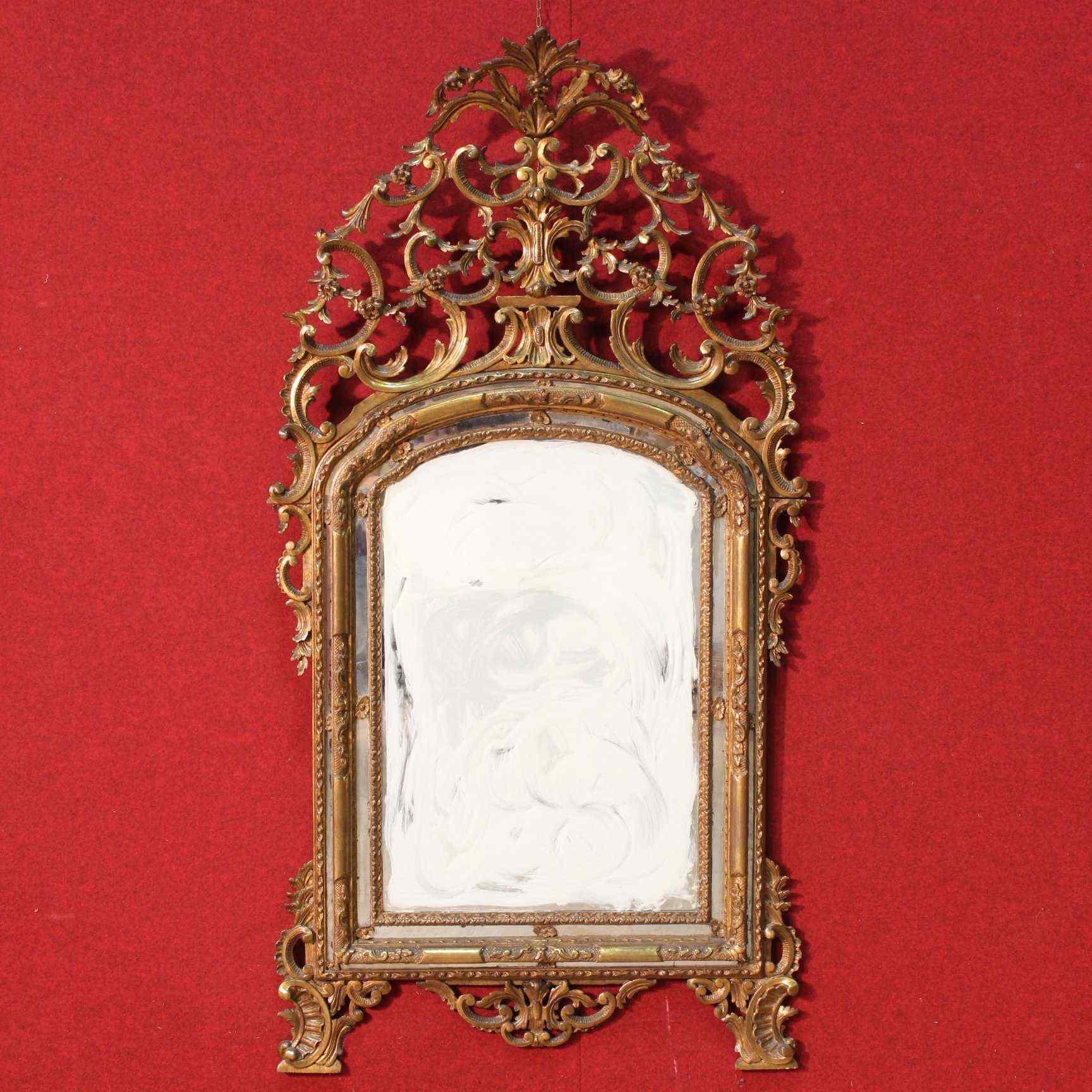 Specchiera torinese dorata dei primi del XX secolo
