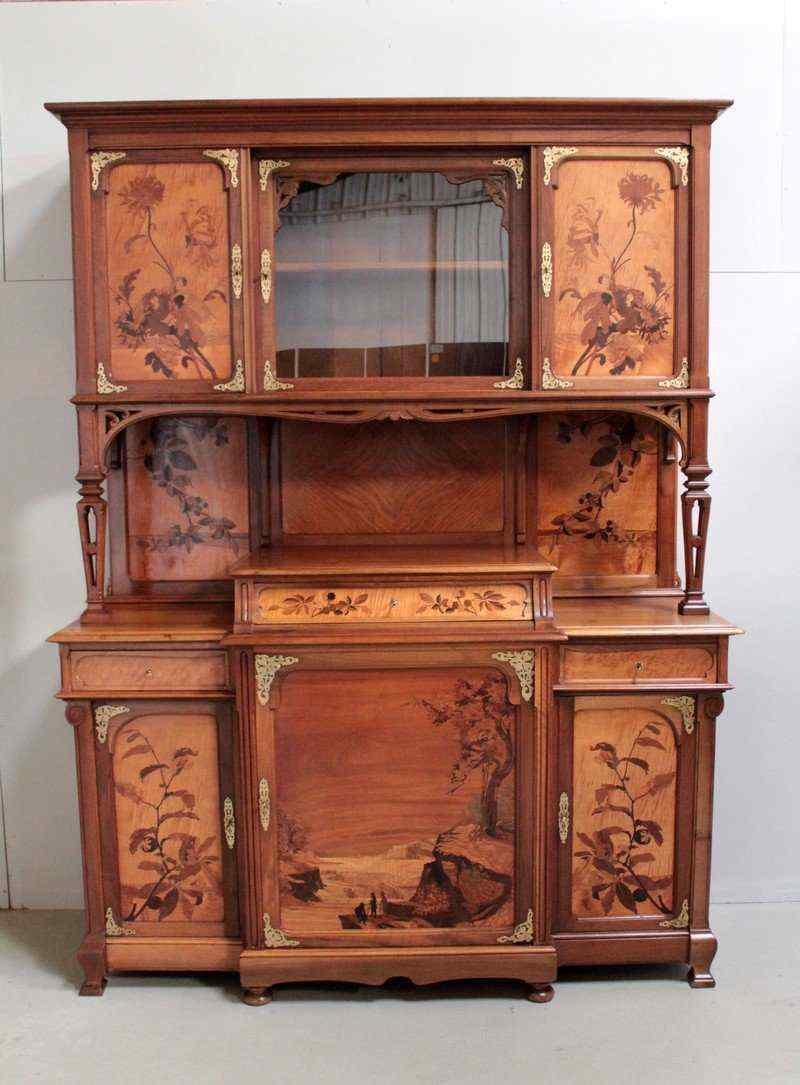buffet deux corps art nouveau anticswiss. Black Bedroom Furniture Sets. Home Design Ideas