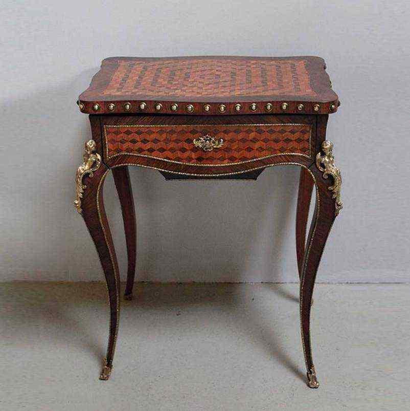 Tavolo da lavoro stile Luigi XV, Francia, XIX secolo