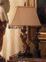 Coppia di lampade stile barocco, XX secolo-9