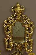 Paire d'Importantes Appliques Style Louis XIV XIXème-1