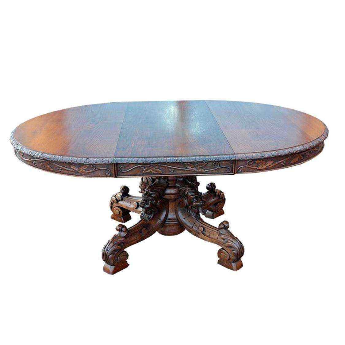 Tavolo estendibile in quercia, Francia, XX secolo