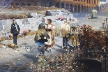 Antico dipinto ad olio François Gérard 1770-1837-3