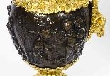 Grande paire ancienne d'aiguières françaises en bronze doré,-11