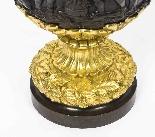 Grande paire ancienne d'aiguières françaises en bronze doré,-5