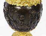 Grande paire ancienne d'aiguières françaises en bronze doré,-16