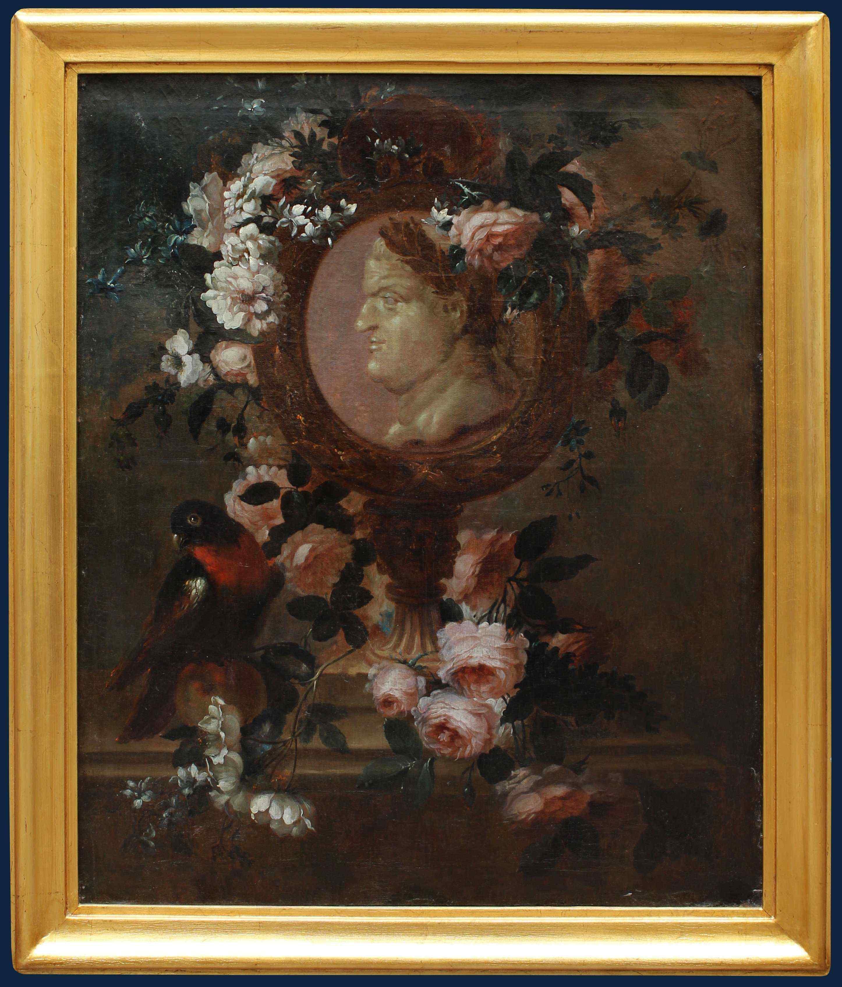 Francia, Secolo XVIII, Natura morta, Olio su tela, cm 82x67.