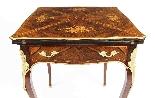Tavolo da gioco antico vittoriano in busta intarsiata Ormolu-3