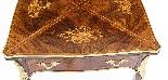 Tavolo da gioco antico vittoriano in busta intarsiata Ormolu-2