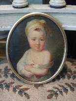 Miniatura raffigurante piccola fanciulla, XVIII secolo-6