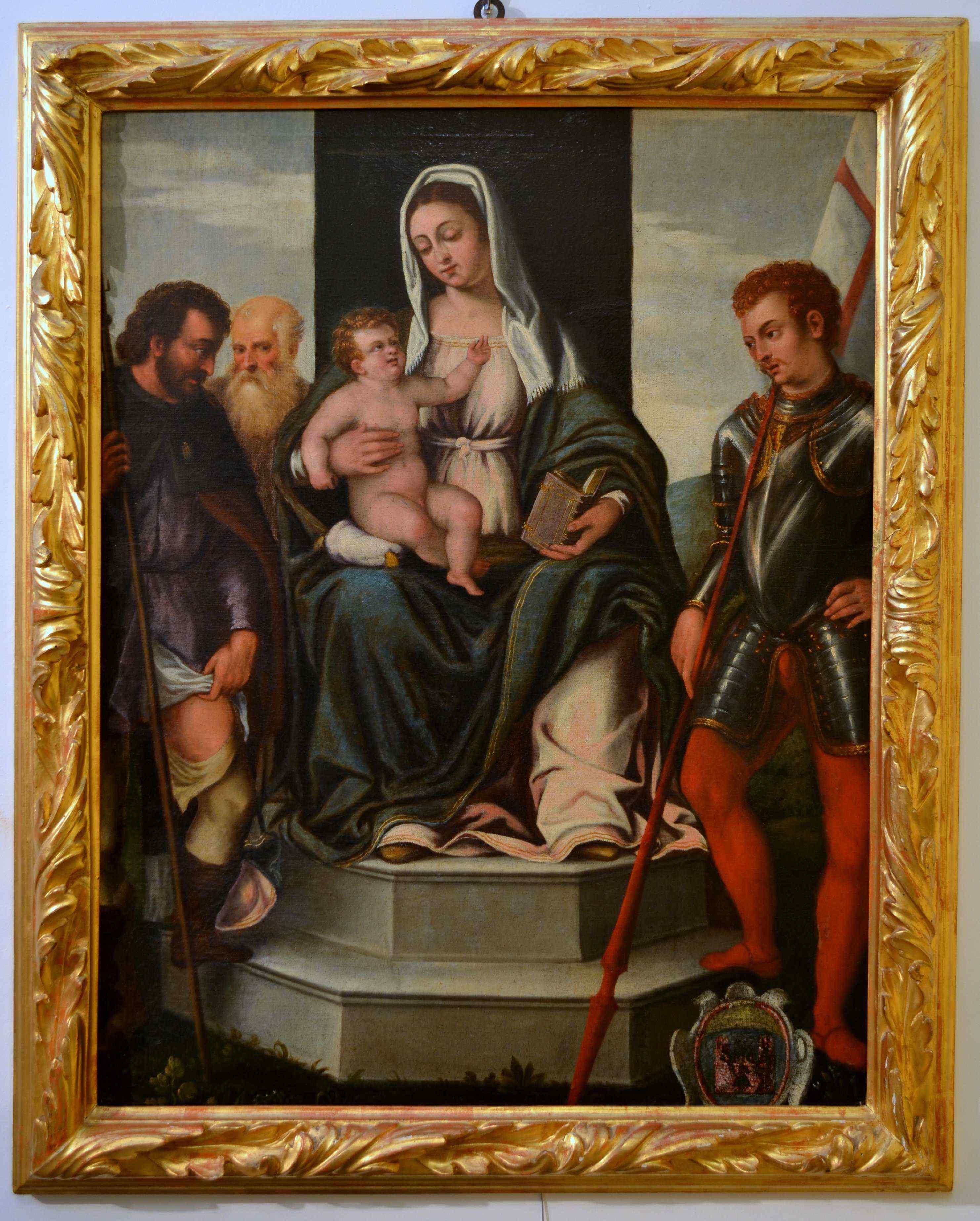Vierge Et l'Enfant En Majesté Avec Les Saints