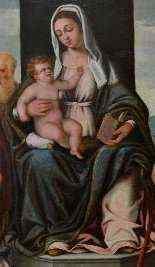 Vierge Et l'Enfant En Majesté Avec Les Saints -1