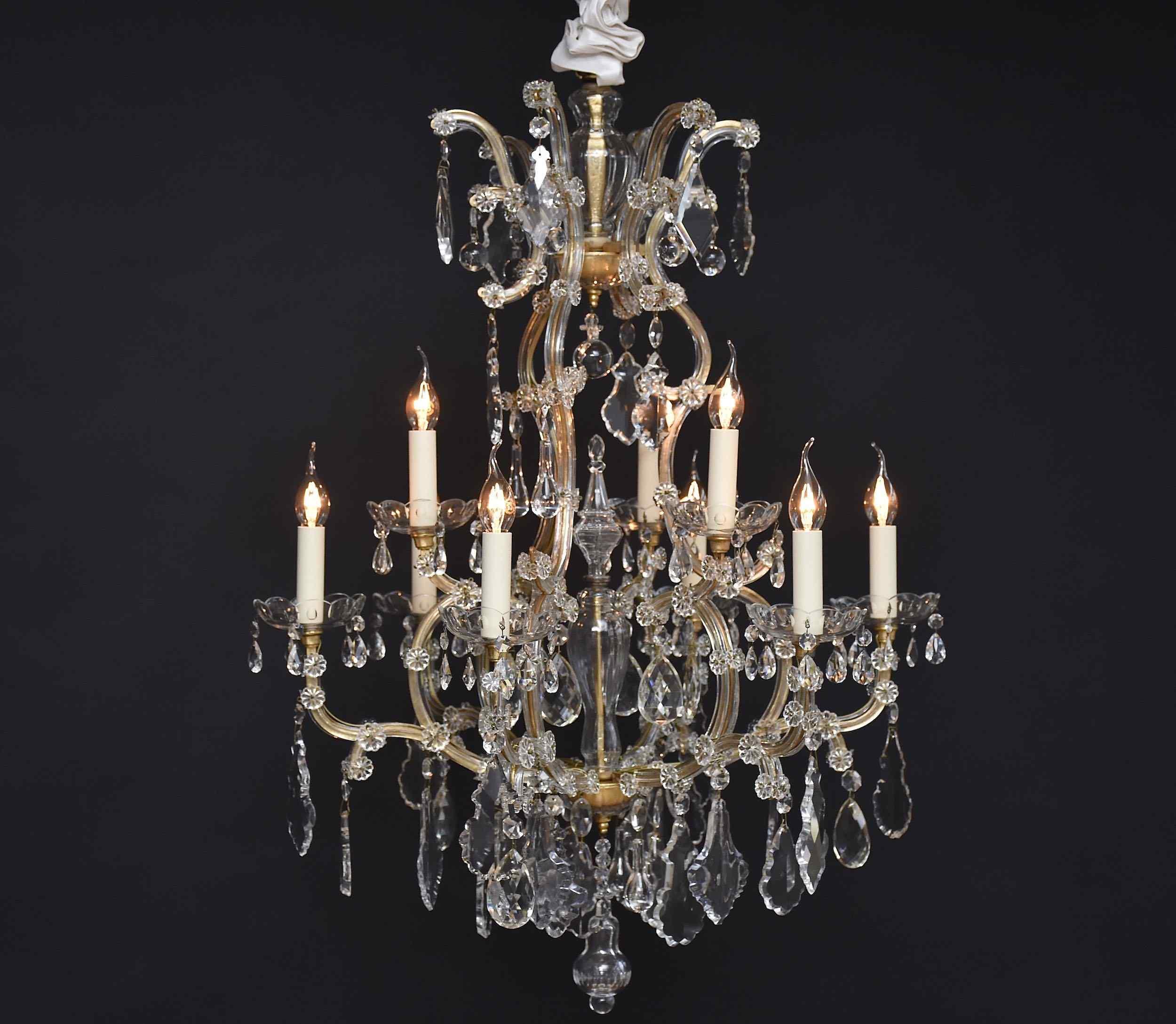 Lustre ancien 'Maria Theresia' avec cristaux Baccarat