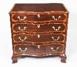 Antique Mahogany George III Serpentine Chest Drawers 18th C-0