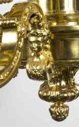 Lustre Antique Style Louis XIV en bronze doré C1900-9
