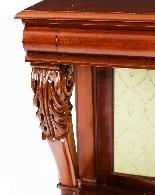 Tavolo consolle antico vittoriano in mogano del XIX secolo-2