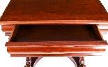 Tavolo consolle antico vittoriano in mogano del XIX secolo-6