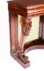 Tavolo consolle antico vittoriano in mogano del XIX secolo-3
