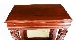 Tavolo consolle antico vittoriano in mogano del XIX secolo-4