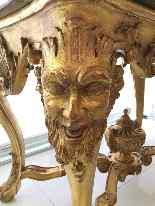 Table de milieu en bois doré du XIXe siècle-4