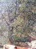 Grande dipinto di mucche nel prato, olio su tela firmato-3