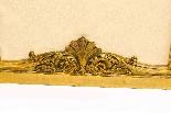 Paravento a tre ante antico in legno dorato francese XIX sec-3