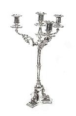 Paire de candélabres victoriens à 4 lumières H Woodward C188-5