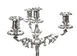 Paire de candélabres victoriens à 4 lumières H Woodward C188-4