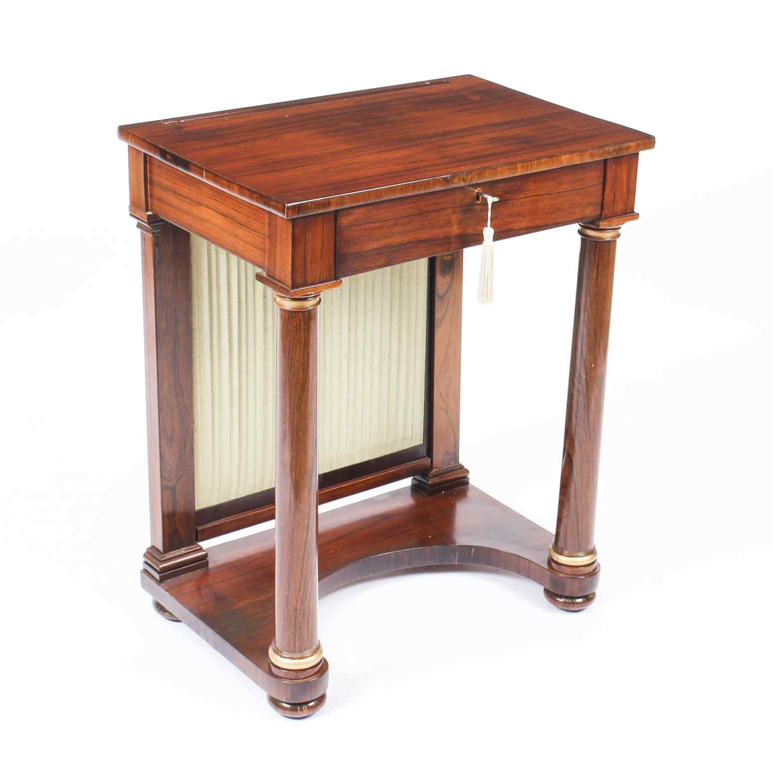 Tavolino da consolle antico stile impero inglese XIX sec
