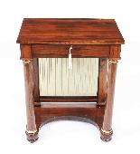 Tavolino da consolle antico stile impero inglese XIX sec-1
