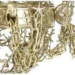 Conchiglia marina a sei luci in stile Buccellati placcato ar-1
