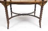 Tavolo antico in mogano inglese e etagere in legno satinato-6