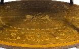 Tavolo antico in mogano inglese e etagere in legno satinato-4