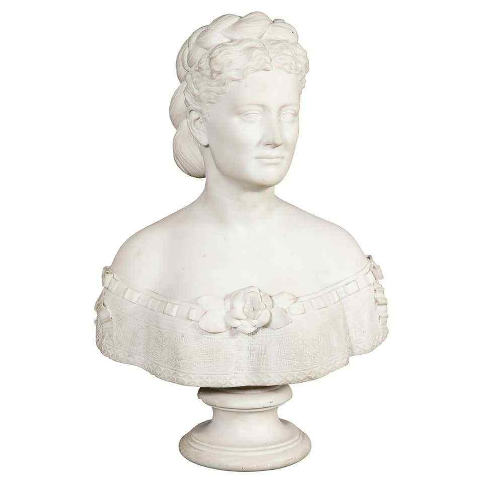 Thomas Ridgeway Gould, un raro busto di marmo bianco america