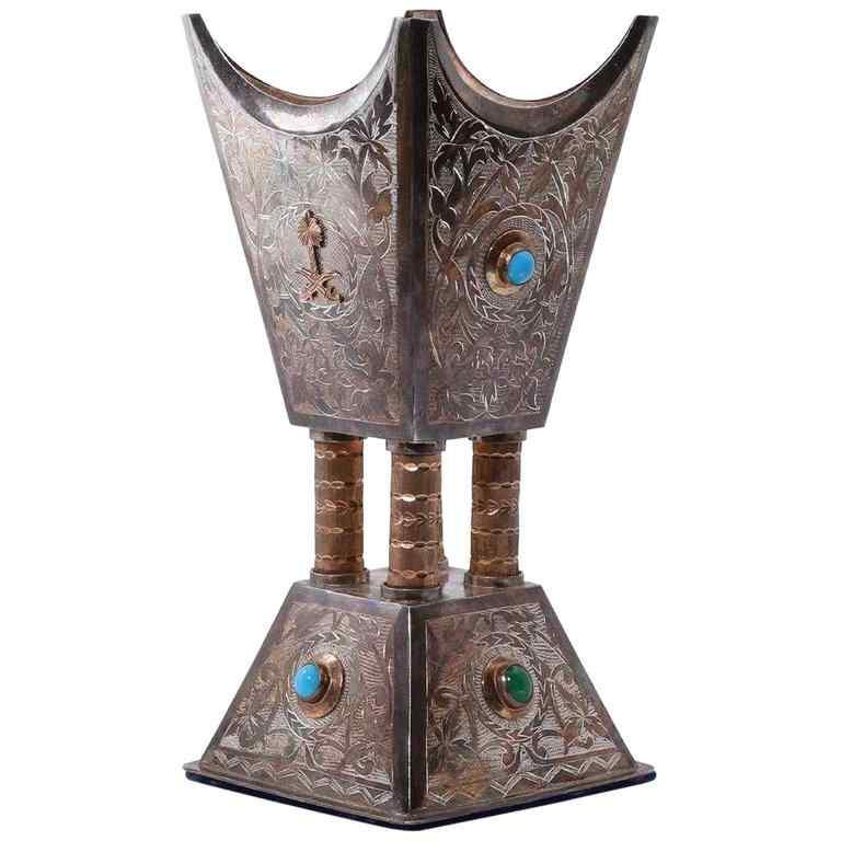 Bruciatore di Bukhur di incenso dell'argento e dell'oro isla