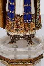Figura in oro smaltato e cristallo di rocca dell'Imperatore-5