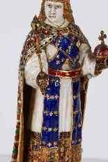 Figura in oro smaltato e cristallo di rocca dell'Imperatore-8