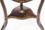 Tavolino occasionale antico con ribaltina tripla edoardiana-6