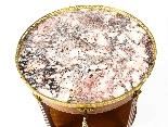 Tavolo occasionale antico in marmo francese e Ormolu, XIX se-0