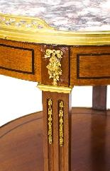 Tavolo occasionale antico in marmo francese e Ormolu, XIX se-5