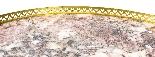 Tavolo occasionale antico in marmo francese e Ormolu, XIX se-2