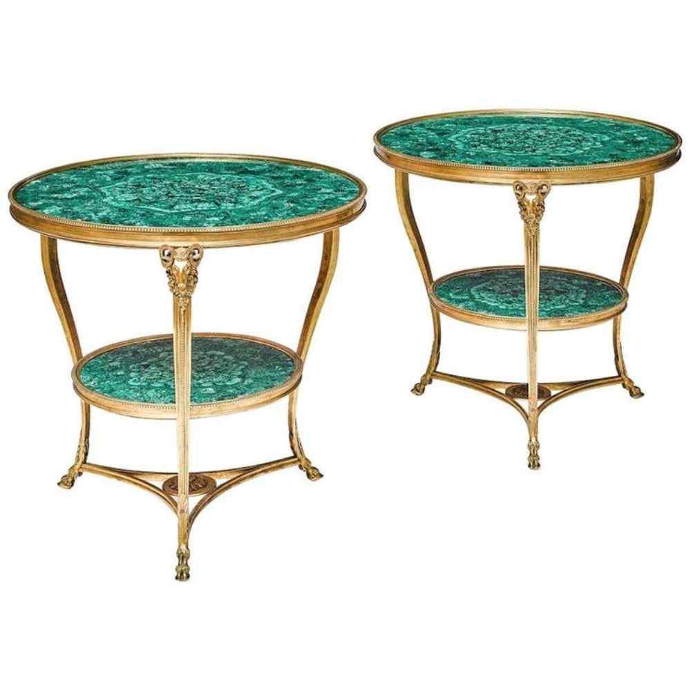 Fantastica coppia di bronzo dorato in stile Luigi XVI e mala