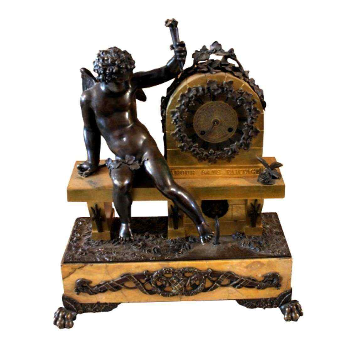 Clock gilt bronze