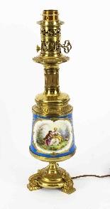 Antique Pair French Bleu Celeste Sevres Vases Lamps 19th C-6